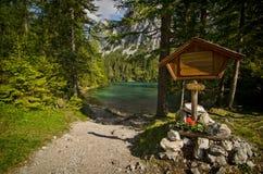 Είσοδος στη διάσημη πράσινη λίμνη - Gruener δείτε - στην Αυστρία στοκ εικόνα με δικαίωμα ελεύθερης χρήσης