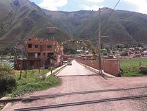 Είσοδος στη μικρή πόλη και την αψίδα των εγκαταστάσεων στοκ φωτογραφία με δικαίωμα ελεύθερης χρήσης