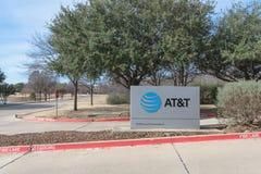 Είσοδος στη AT&T που εκπαιδεύει την πανεπιστημιούπολη στο Irving, Τέξας, ΗΠΑ Στοκ Εικόνα