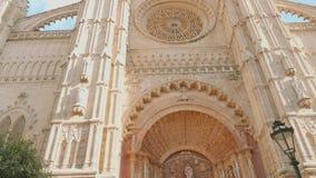 Είσοδος στον καθεδρικό ναό Palma απόθεμα βίντεο