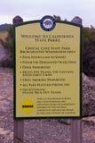 Είσοδος στο κρατικό πάρκο όρμων κρυστάλλου στοκ εικόνες