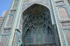 Είσοδος στο μουσουλμανικό μουσουλμανικό τέμενος στη Αγία Πετρούπολη στοκ εικόνες