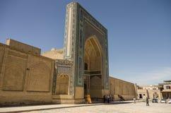 Είσοδος στο μουσουλμανικό τέμενος Kalon, Μπουχάρα, Ουζμπεκιστάν στοκ εικόνα