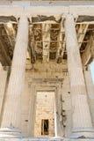 Είσοδος στο ναό Αθηνάς Nike, Αθήνα, Ελλάδα στοκ εικόνες