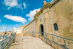 Είσοδος στο οχυρό Άγιος Angelo, Μάλτα Στοκ εικόνα με δικαίωμα ελεύθερης χρήσης