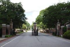 Είσοδος στο πανεπιστήμιο της πανεπιστημιούπολης της νότιας Καρολίνας στην Κολούμπια Στοκ Εικόνες