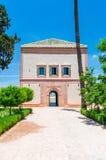 Είσοδος στο περίπτερο στον κήπο Menara στο Μαρακές, Μαρόκο στοκ εικόνες