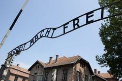 Είσοδος στο στρατόπεδο συγκέντρωσης Auschwitz. Πολωνία Στοκ φωτογραφίες με δικαίωμα ελεύθερης χρήσης