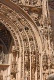 Είσοδος της γοτθικής εκκλησίας του Λα της Σάντα Μαρία πραγματικής, Aranda de Στοκ Εικόνες