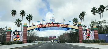 Είσοδος του κόσμου Walt Disney στοκ φωτογραφίες με δικαίωμα ελεύθερης χρήσης
