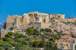 Είσοδος του propylaea Αθήνα ελληνικά στοκ φωτογραφίες με δικαίωμα ελεύθερης χρήσης