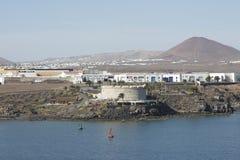 Είσοδος Arrecife στο λιμάνι Lanzarote Ισπανία Στοκ Φωτογραφίες