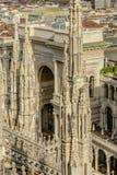 Είσοδος Galleria από τη στέγη καθεδρικών ναών, Μιλάνο, Ιταλία Στοκ Εικόνα