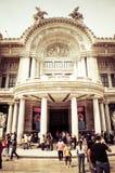 Είσοδος Palacio de Bellas Artes στο Μεξικό, πόλη Στοκ εικόνα με δικαίωμα ελεύθερης χρήσης