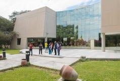 Είσοδος Sipan Chiclayo Περού μουσείων Inca στοκ φωτογραφία με δικαίωμα ελεύθερης χρήσης