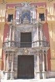 Είσοδος, επισκοπικό παλάτι, Plaza del Obispo, Μάλαγα, Ισπανία Στοκ φωτογραφία με δικαίωμα ελεύθερης χρήσης