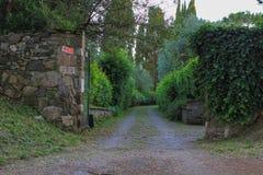Είσοδος κήπων από Appian Way (μέσω Appia) στη Ρώμη, Ιταλία Στοκ εικόνες με δικαίωμα ελεύθερης χρήσης