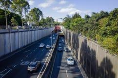 Είσοδος και έξοδος Σίδνεϊ Αυστραλία σηράγγων εθνικών οδών πόλεων Στοκ Φωτογραφία