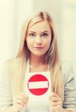 είσοδος καμία γυναίκα σημαδιών Στοκ εικόνες με δικαίωμα ελεύθερης χρήσης