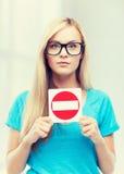 είσοδος καμία γυναίκα σημαδιών Στοκ φωτογραφίες με δικαίωμα ελεύθερης χρήσης