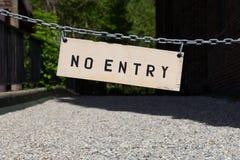 είσοδος κανένα σημάδι Στοκ φωτογραφία με δικαίωμα ελεύθερης χρήσης