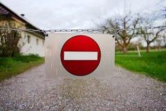 είσοδος κανένα σημάδι Στοκ Φωτογραφίες