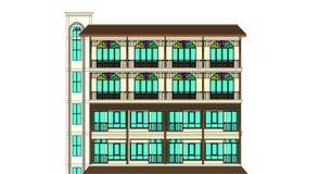 Είσοδος πολυκατοικίας ανύψωσης σχεδίων αρχιτεκτονικής Στοκ Φωτογραφία