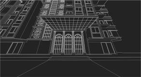 Είσοδος πολυκατοικίας σχεδίων αρχιτεκτονικής Στοκ φωτογραφία με δικαίωμα ελεύθερης χρήσης