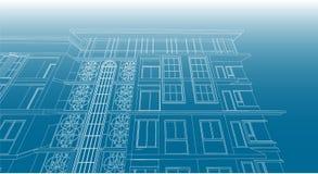 Είσοδος πολυκατοικίας σχεδίων αρχιτεκτονικής Στοκ Εικόνες