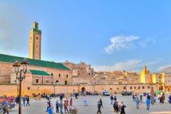 Είσοδος σε ένα από τα πολλά medinas στην παλαιά πόλη Fes βασίλειων στο Μαρόκο Στοκ Φωτογραφία
