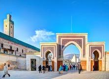 Είσοδος σε ένα από τα πολλά medinas στην παλαιά πόλη Fes βασίλειων στο Μαρόκο Στοκ Εικόνα
