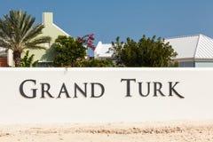 Είσοδος σε μεγάλους Τούρκο, τους Τούρκους & τα νησιά των Caicos Στοκ Φωτογραφίες