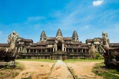 Είσοδος σε Angkor Wat στην Καμπότζη Στοκ Φωτογραφίες