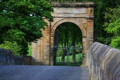 Είσοδος σε Lambton Castle από τη δυτική πλευρά Στοκ Φωτογραφίες