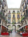 Είσοδος σε Placa Reial, Βαρκελώνη Στοκ Εικόνα