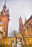 Είσοδος στην εκκλησία Αγίου Anna και την εκκλησία του Bernardine μέσα Στοκ φωτογραφία με δικαίωμα ελεύθερης χρήσης
