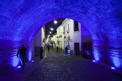 Είσοδος στη γειτονιά του Λα Ronda, Κουίτο, Ισημερινός Στοκ εικόνες με δικαίωμα ελεύθερης χρήσης