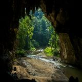 Είσοδος στη σπηλιά Lod σε Sappong, βόρεια Ταϊλάνδη στοκ εικόνες
