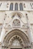 Είσοδος στον καθεδρικό ναό στο Ζάγκρεμπ, Κροατία Στοκ εικόνες με δικαίωμα ελεύθερης χρήσης