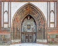 Είσοδος στον καθεδρικό ναό ST Nikolai σε Stralsund Στοκ φωτογραφία με δικαίωμα ελεύθερης χρήσης