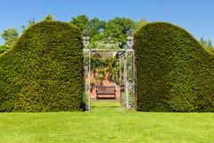 Είσοδος στον περιτοιχισμένο το s κήπο του Hampton Court Castle `, Herefordshire, Αγγλία Στοκ Εικόνα