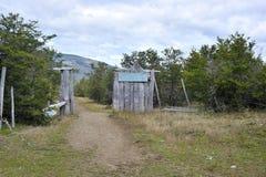 Είσοδος στο ίχνος για τη συμβολή του αρτοποιού και nef του ποταμού Στοκ φωτογραφία με δικαίωμα ελεύθερης χρήσης