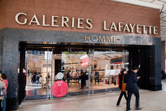 Είσοδος στο εμπορικό κέντρο του Λαφαγέτ, Παρίσι Στοκ Φωτογραφία