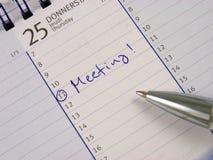Είσοδος στο ημερολόγιο: Συνεδρίαση στοκ εικόνες