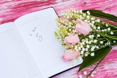 Είσοδος στο ημερολόγιο Στοκ φωτογραφία με δικαίωμα ελεύθερης χρήσης