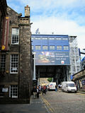 Είσοδος στο κάστρο του Εδιμβούργου, Σκωτία Στοκ φωτογραφία με δικαίωμα ελεύθερης χρήσης