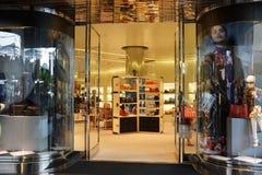 Είσοδος στο κατάστημα της Prada στο κέντρο της ΑΛΑ Moana Στοκ φωτογραφία με δικαίωμα ελεύθερης χρήσης
