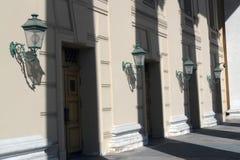 Είσοδος στο κτήριο θεάτρων Bolshoy στη Μόσχα Στοκ εικόνα με δικαίωμα ελεύθερης χρήσης