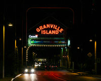 Είσοδος στο νησί Granville, Βανκούβερ, Π.Χ. Στοκ Φωτογραφία