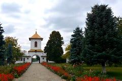 Είσοδος στο ορθόδοξο μοναστήρι Zamfira, Ρουμανία Στοκ Φωτογραφία